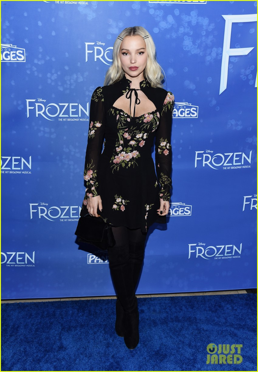 dove cameron frozen play opening night 01