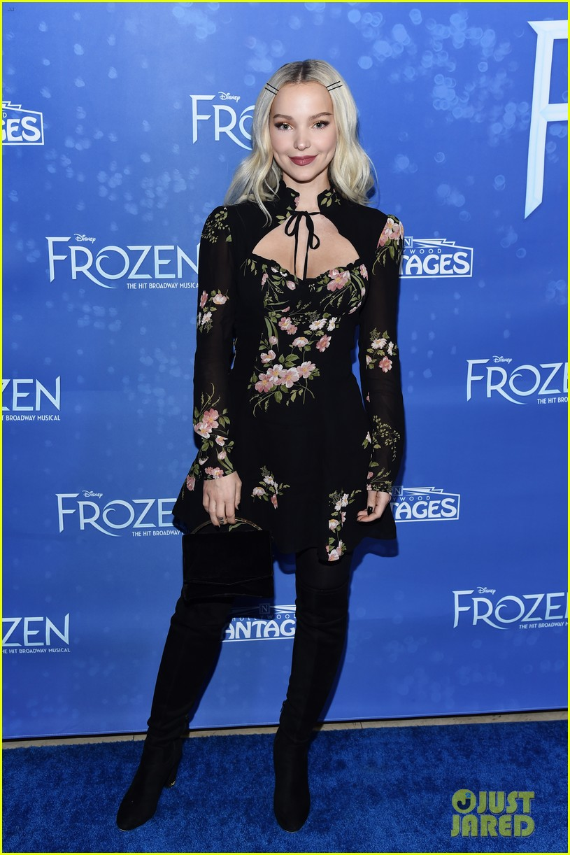 dove cameron frozen play opening night 05