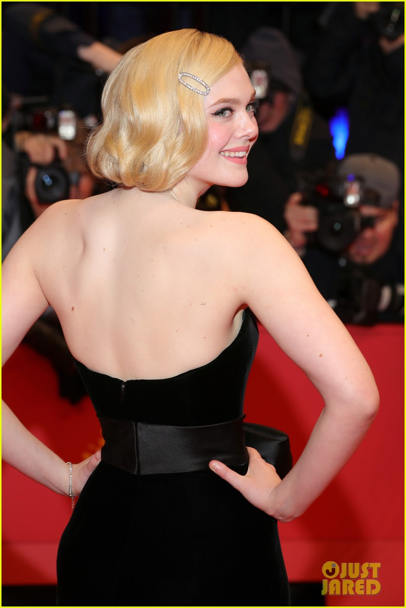 elle fanning gives old hollywood glamour at the roads not taken berlinale premiere 01