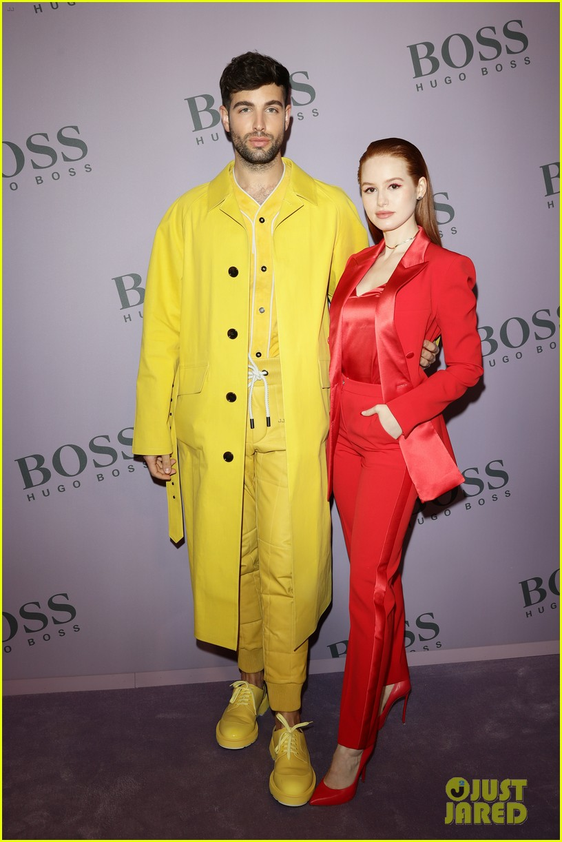 madelaine petsch surrounds herself with friends at boss fashion show in milan 01
