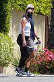 lea michele zandy reich pregnant baby bump stroll 54