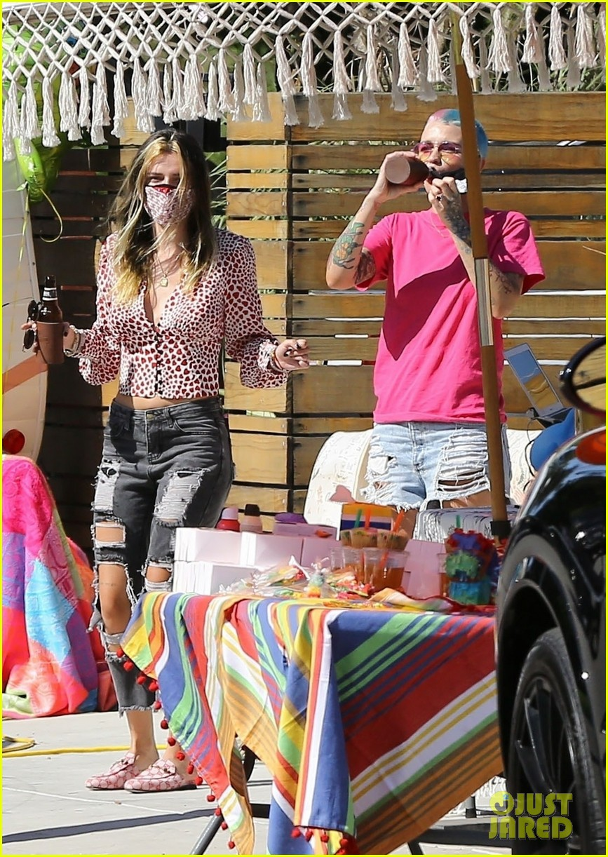 ruby rose bella thorne attend a drive by birthday party 01