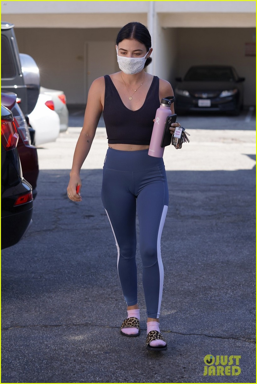 lucy hale gets a temperature check 01