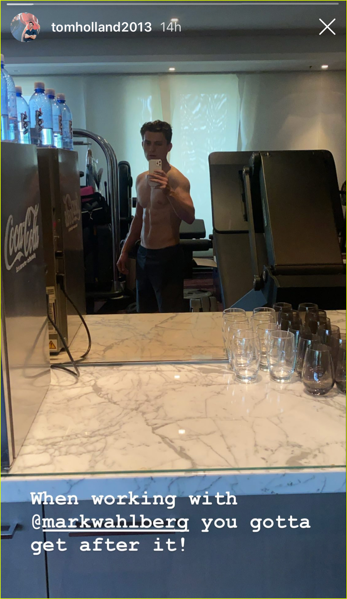 tom holland looks ripped in new shirtless pic