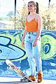 addison rae shows off her skateboarding skills at the skate park 17