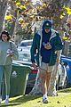 jacob elordi short shorts workout with kaia gerber 13