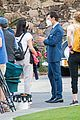 harry styles looks dapper in two suits on dont worry darling set in palm springs 28