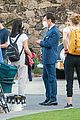harry styles looks dapper in two suits on dont worry darling set in palm springs 29