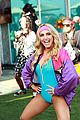 dominic sherwood jack griffo more get into 80s spirit for cassie scerbo bday 12