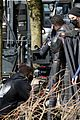 melissa benoist shows off her smile on supergirl set day before premiere 03