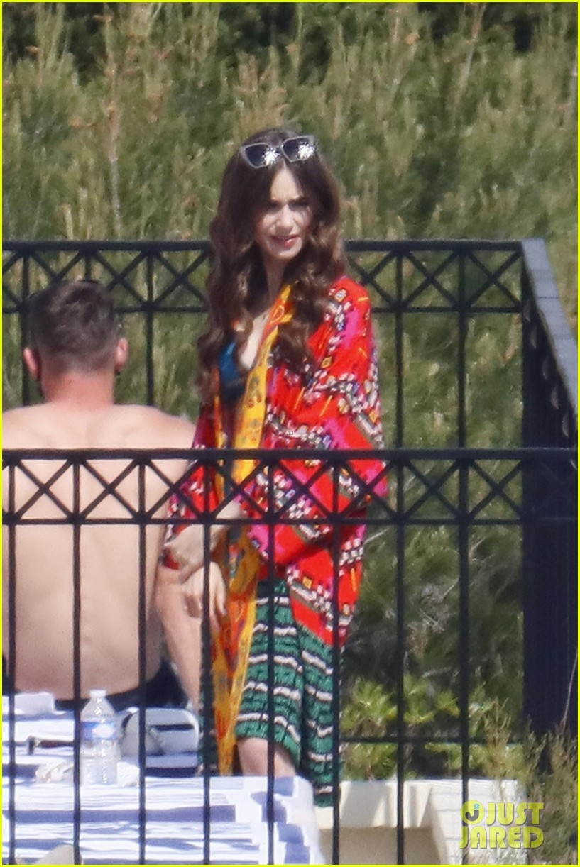 lily collins shooting emily in paris season two 01