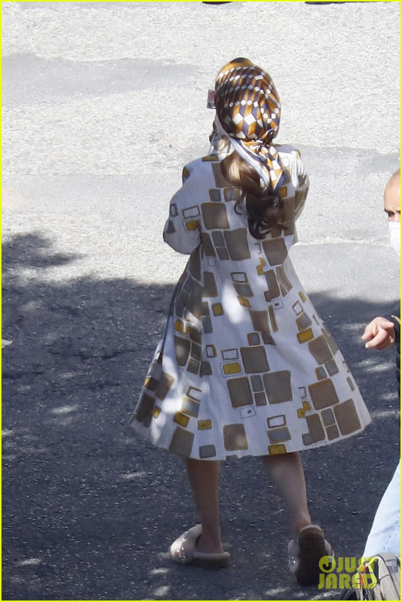 lily collins shooting emily in paris season two 12