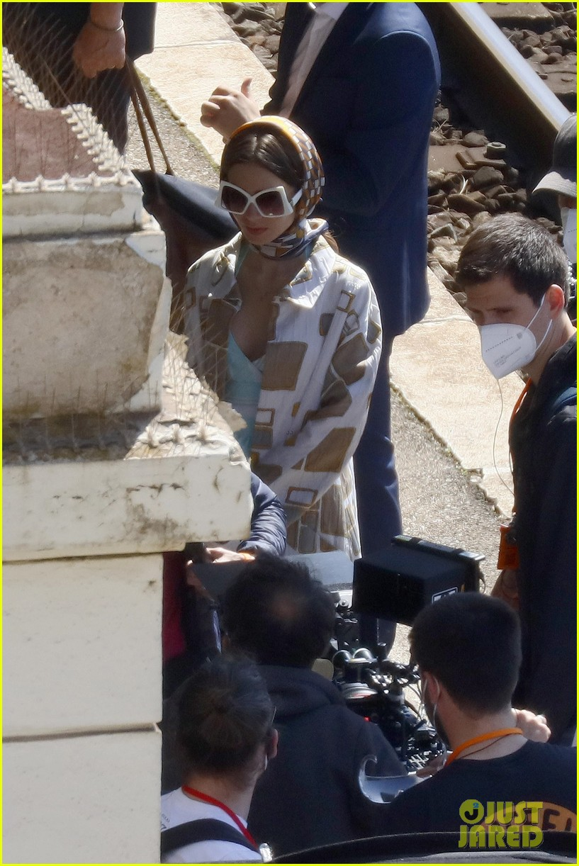 lily collins shooting emily in paris season two 14