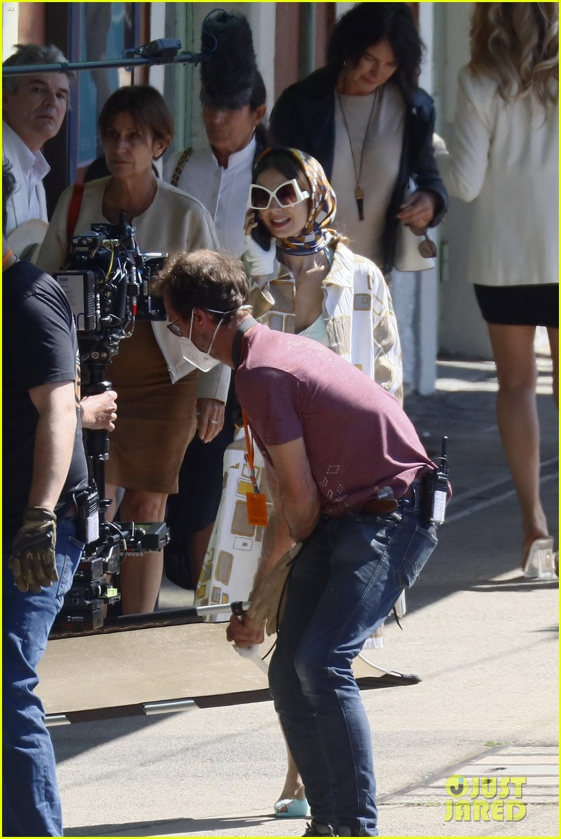 lily collins shooting emily in paris season two 15