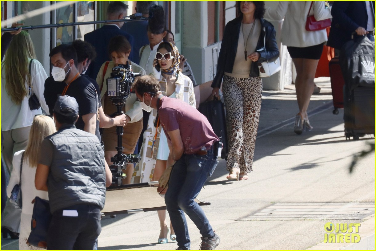 lily collins shooting emily in paris season two 16