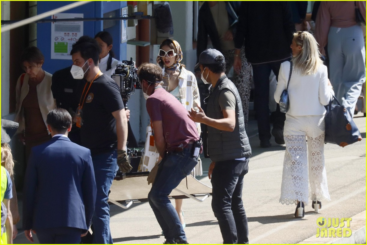 lily collins shooting emily in paris season two 17