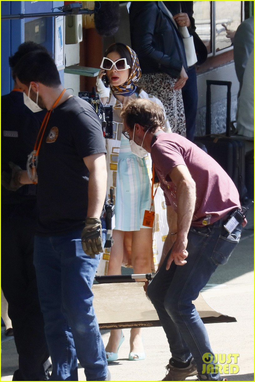 lily collins shooting emily in paris season two 20