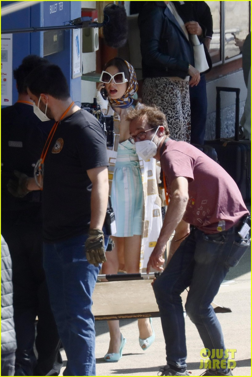 lily collins shooting emily in paris season two 21