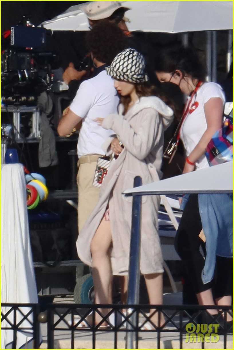lily collins shooting emily in paris season two 33