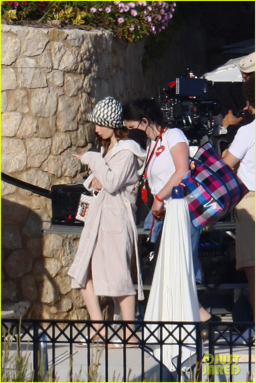 lily collins shooting emily in paris season two 34