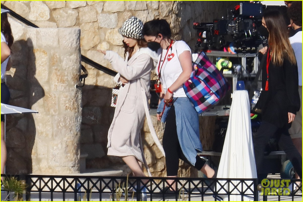lily collins shooting emily in paris season two 35