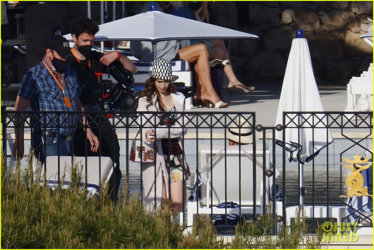 lily collins shooting emily in paris season two 36