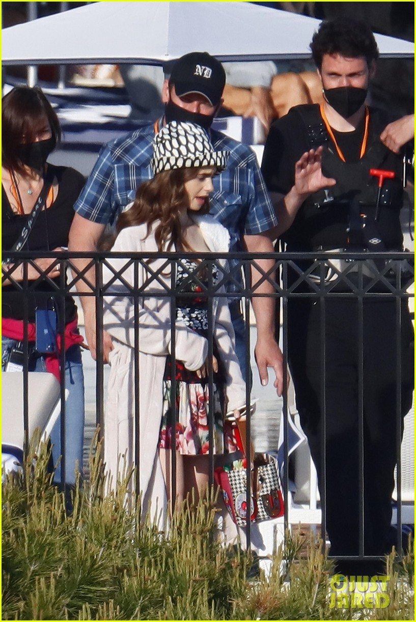 lily collins shooting emily in paris season two 38