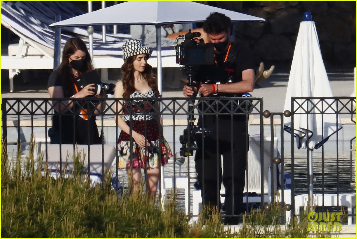 lily collins shooting emily in paris season two 43