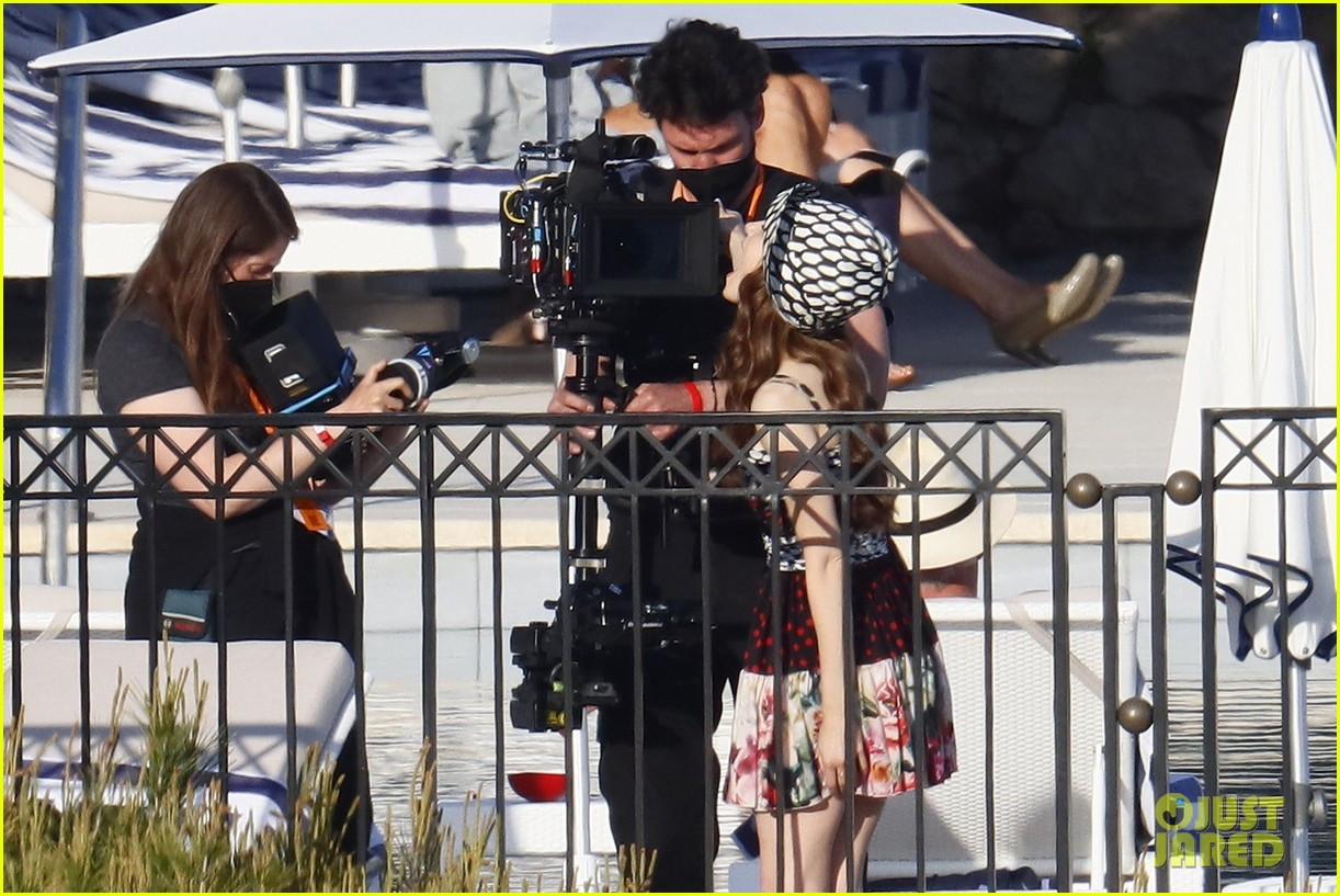 lily collins shooting emily in paris season two 45