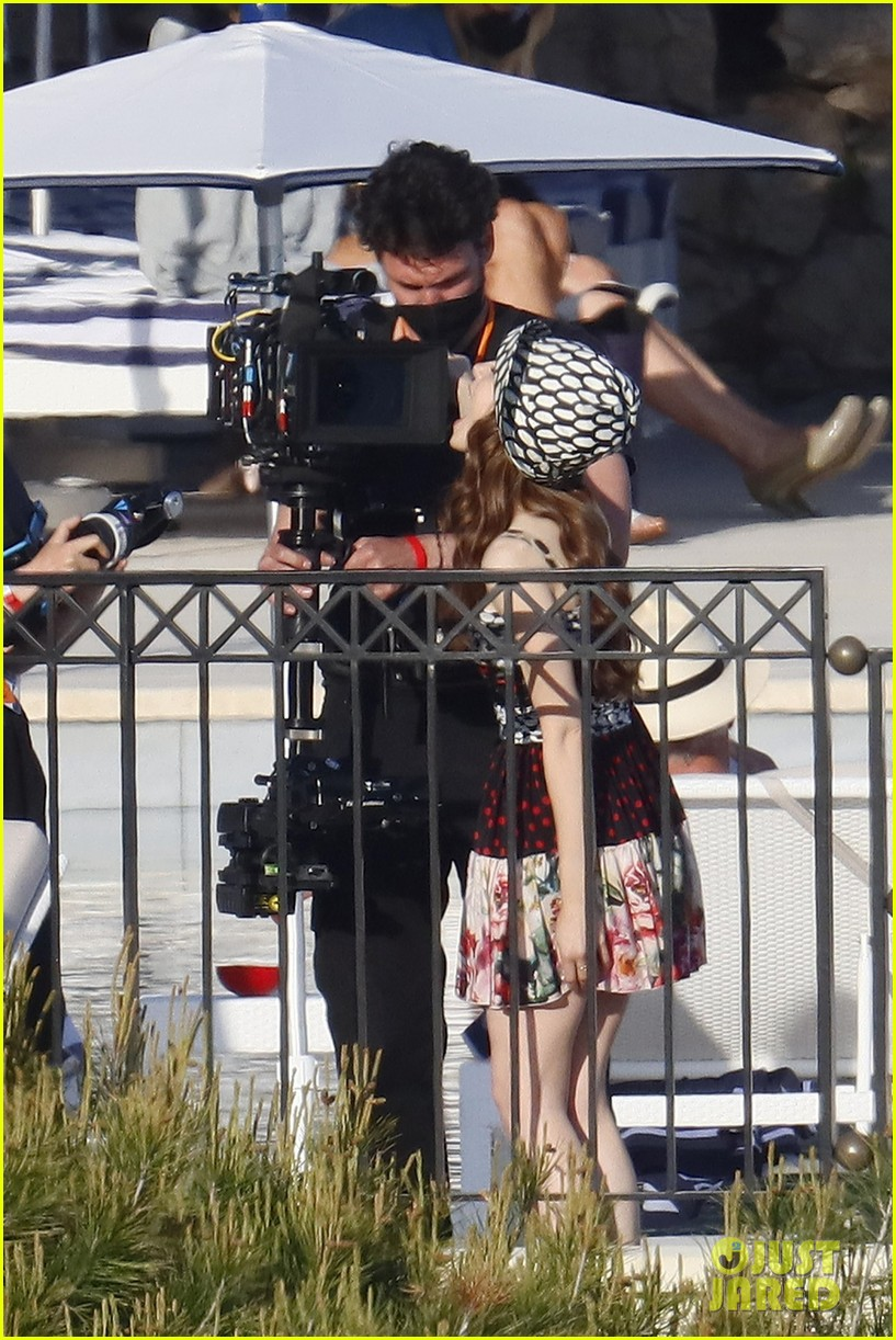 lily collins shooting emily in paris season two 46