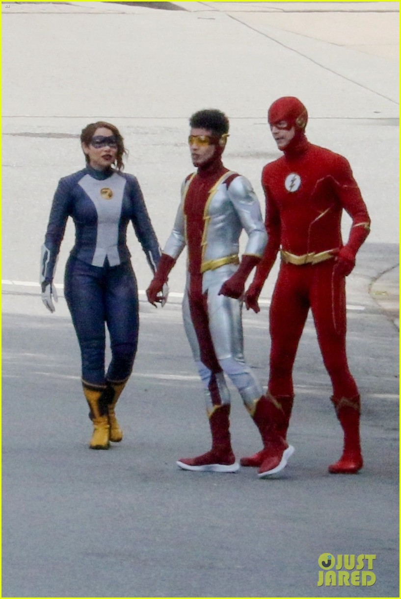 first look photos of jordan fisher as impulse on the flash 17