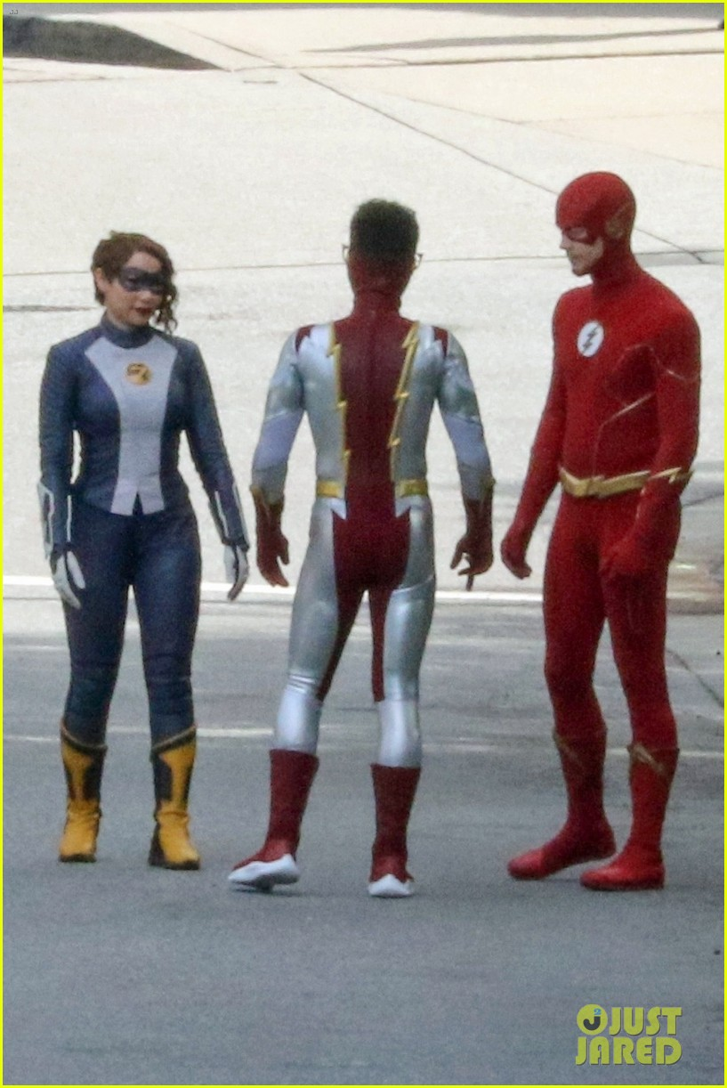 first look photos of jordan fisher as impulse on the flash 19