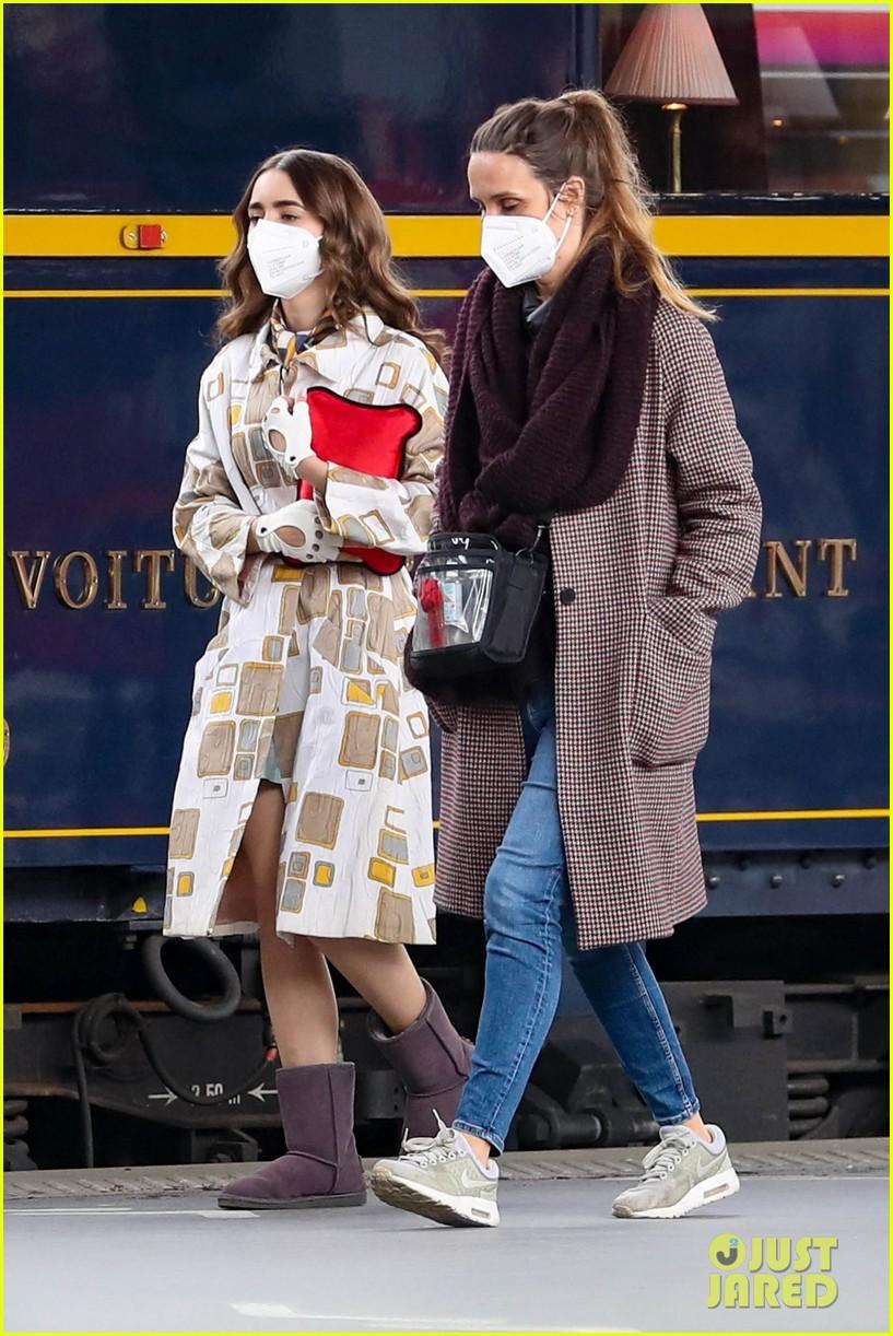 lily collins emily in paris set train 02