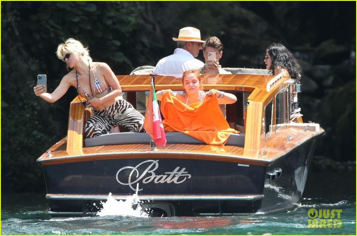 bella thorne yellow bikini lake como with benjamin mascolo 22