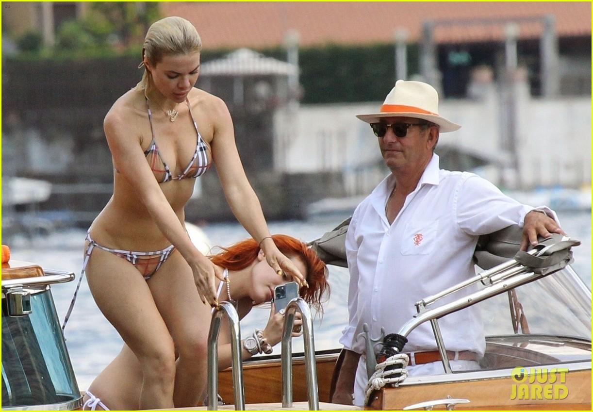 bella thorne yellow bikini lake como with benjamin mascolo 33