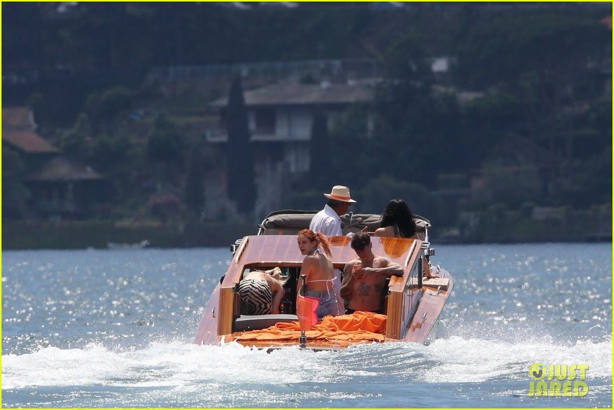 bella thorne yellow bikini lake como with benjamin mascolo 51