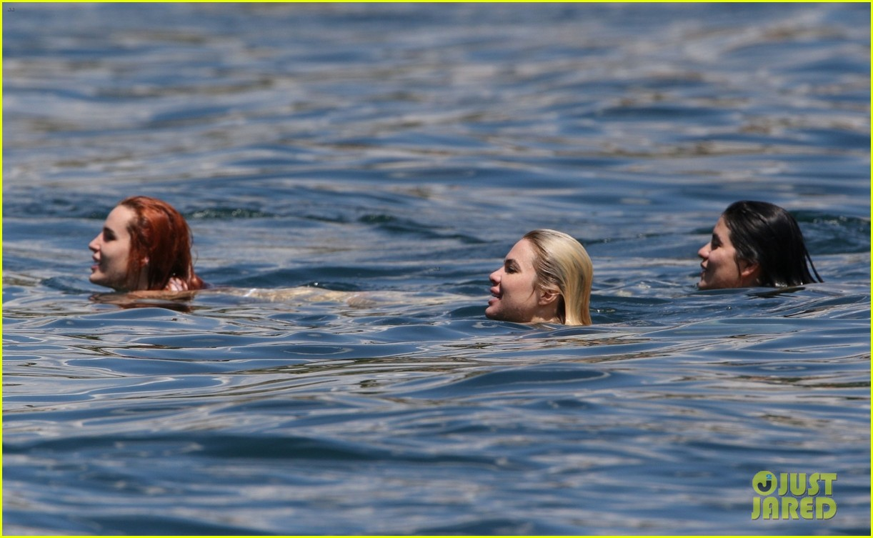 bella thorne yellow bikini lake como with benjamin mascolo 81