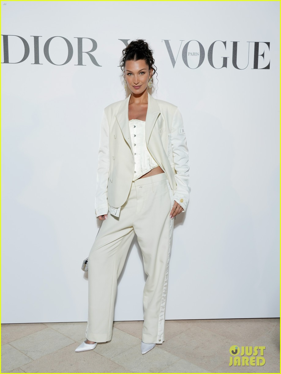 bella hadid wears all white for the dior x vogue dinner in cannes 01