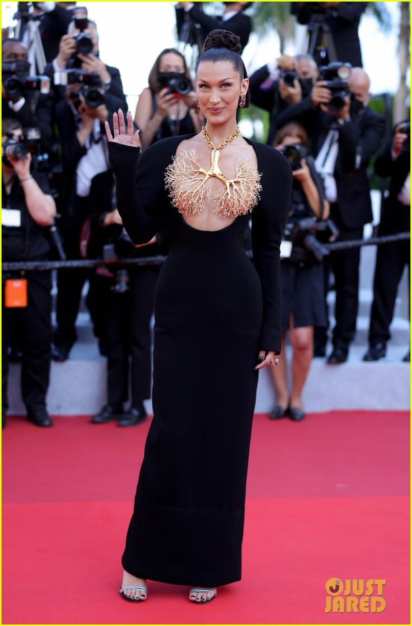 bella hadid wears revealing dress to cannes film festival premiere 01