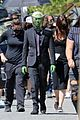 chris wood jeremy jordan return to film funeral scene on supergirl set 07
