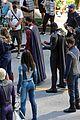supergirl cast in full costume finale filming 12