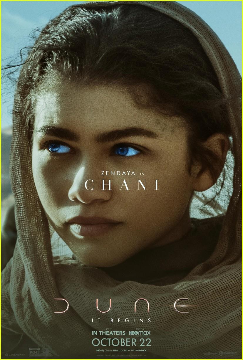 zendaya timothee chalamet new dune character posters 01