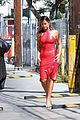 addison rae wears skin tight red dress for jimmy kimmel live 02