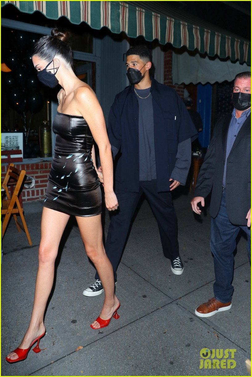 Kendall Jenner Wears a Black Mini-Dress for NYC Night Out