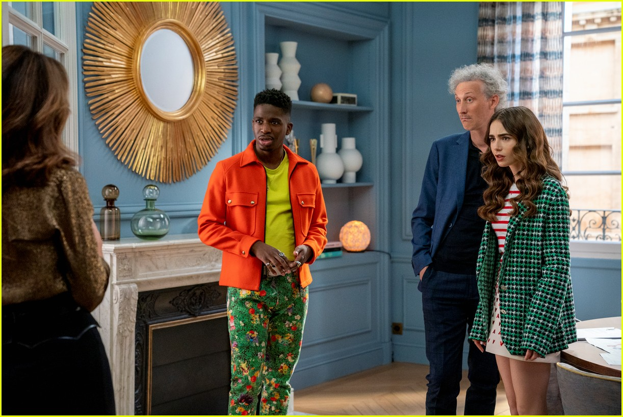 lucien laviscount joins emily in paris season two first look photos 08