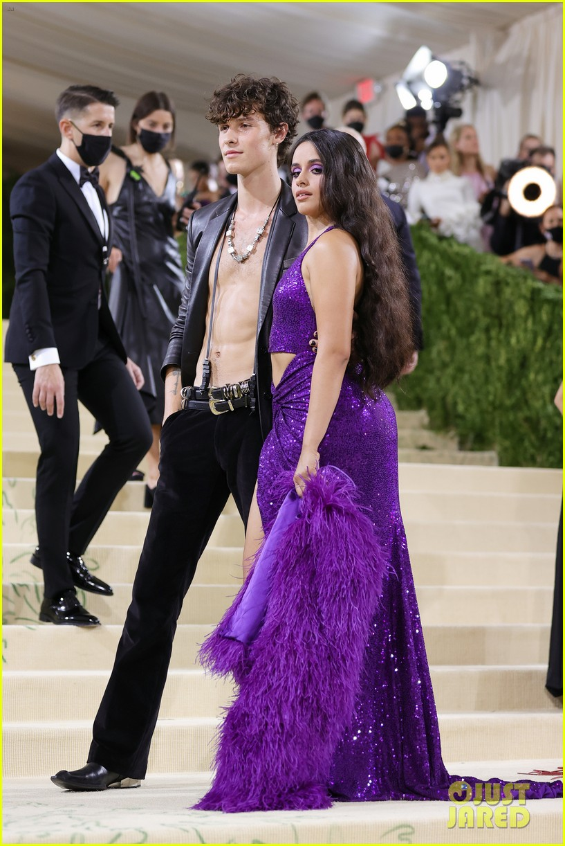 shawn mendes goes shirtless for met gala 2021 with camila cabello 13