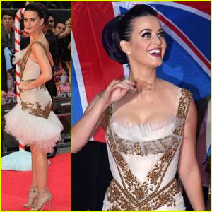 Katy Perry: Red, White, & Blue Eyelashes at UK Premiere!