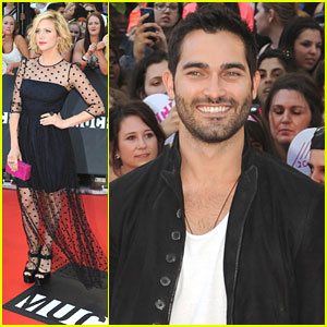 Brittany Snow & Tyler Hoechlin: MuchMusic Video Awards 2013 with Stephen Amell