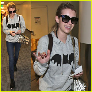 Emma Roberts Hits LAX After Meeting One Direction