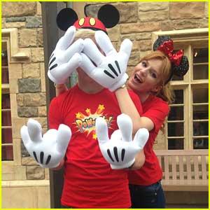 Bella Thorne & Ross Lynch: Danimals Commercial Shoot at Disneyland (Exclusive Pics)!